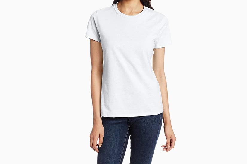 best white t-shirt women hanes nano tee luxe digital