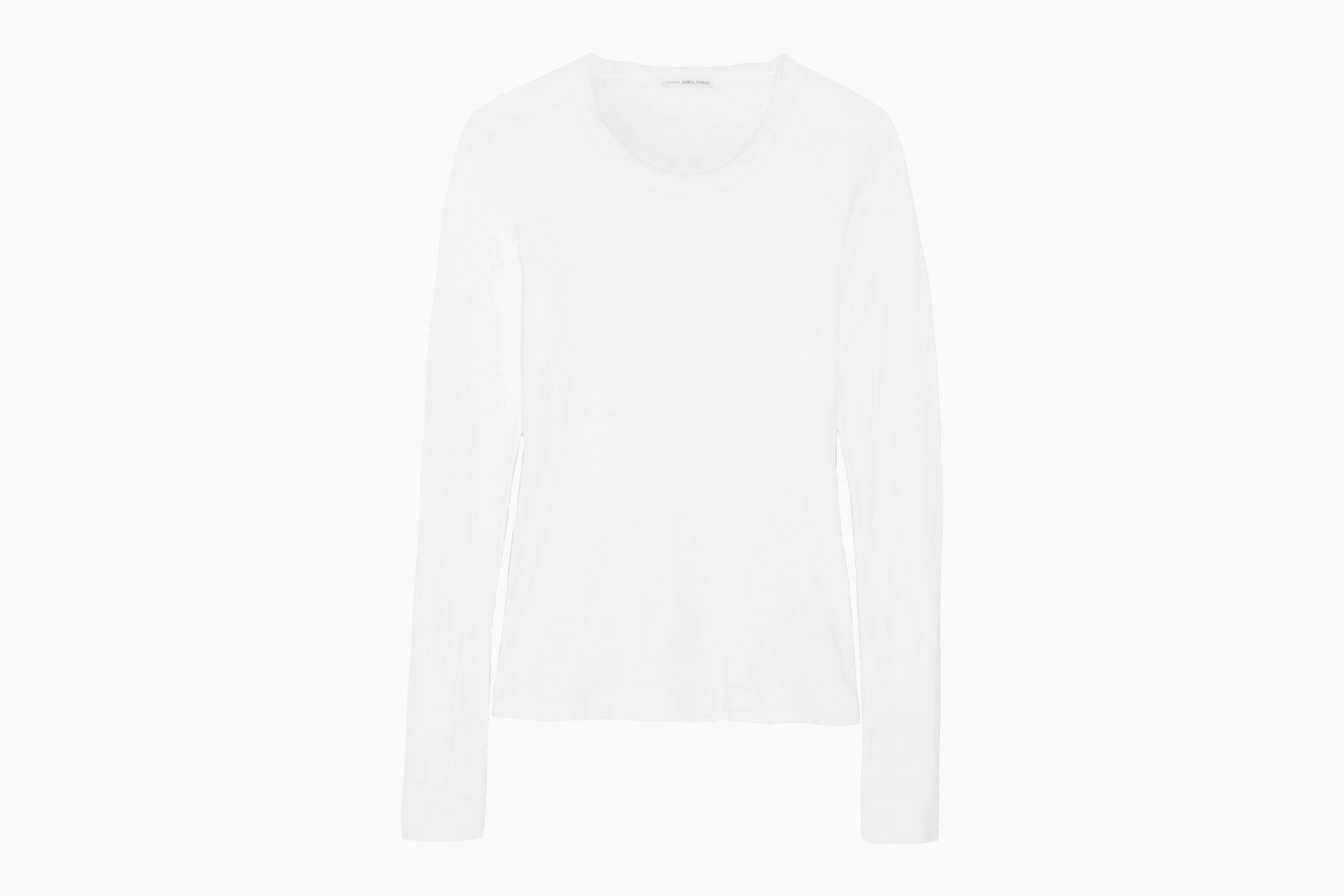 best white t-shirt women james perse slub cotton top luxe digital