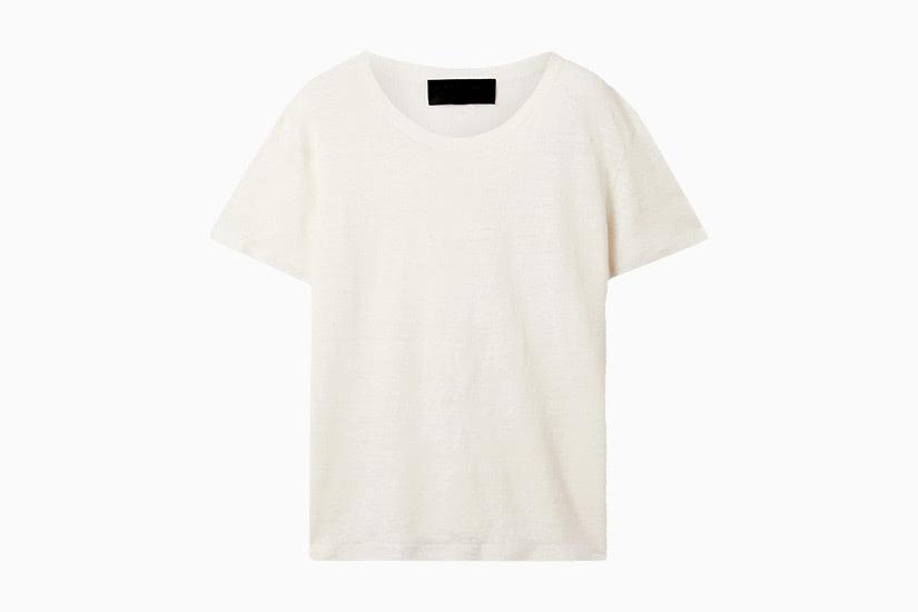 best white t-shirt women nili lotan irving linen tee luxe digital