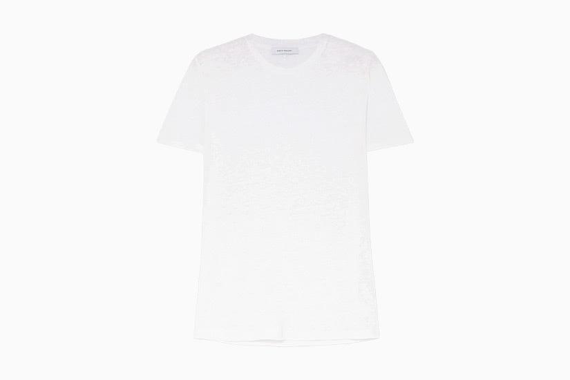 best white t-shirt women ninety percent linen tee luxe digital