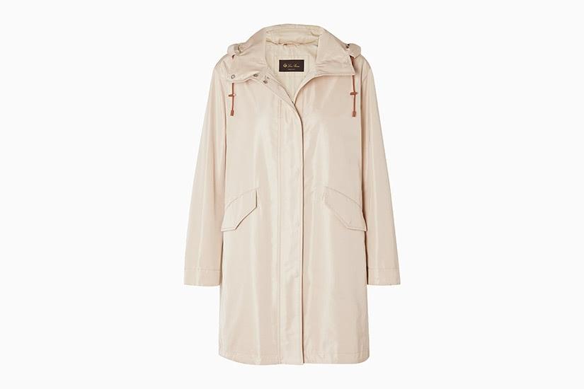 best raincoats women loro piana headley hooded luxe digital