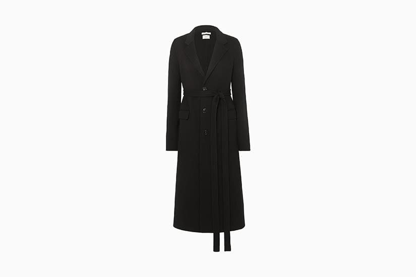 best women trench coat black bottega veneta luxe digital