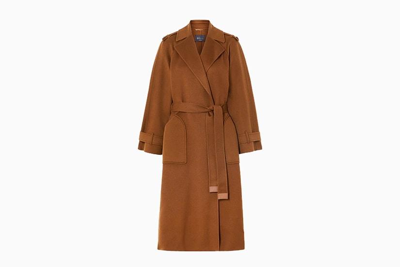 best women trench coat camel loro piana cashmere - Luxe Digital