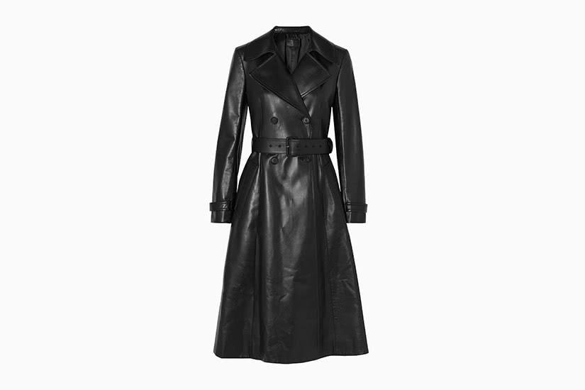 best women trench coat leather prada - Luxe Digital