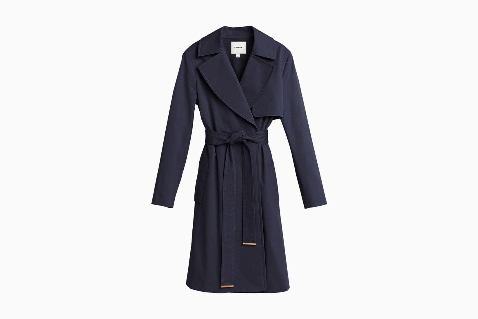 best women trench coat navy cuyana - Luxe Digital