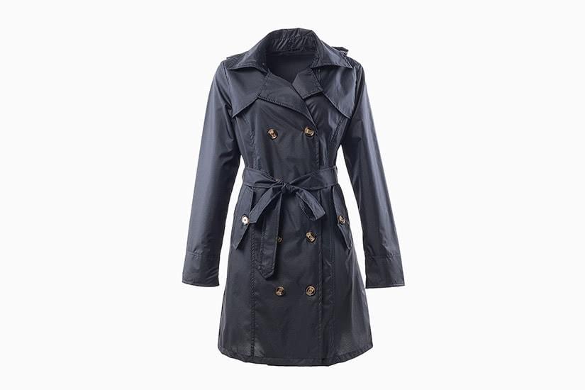 best women trench coat rain waterproof qzunique - Luxe Digital
