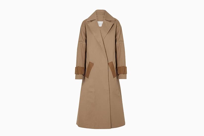 best women trench coat two-tone king- tuckfield - Luxe Digital