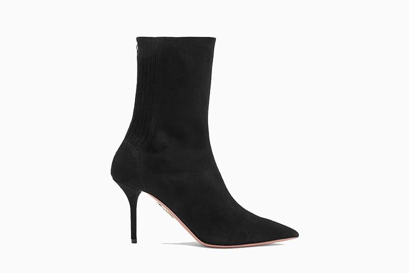 best women ankle boots sock Aquazzura Saint Honore review - Luxe Digital