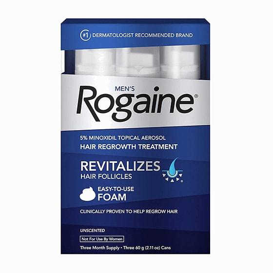 best men hair style rogaine minoxidil foam review - Luxe Digital