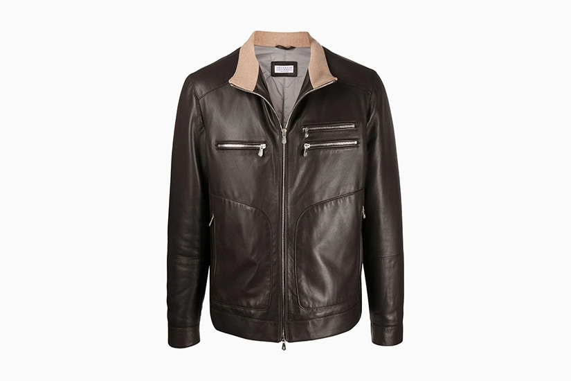best leather jackets men brunello cucinelli brown leather jacket luxe digital