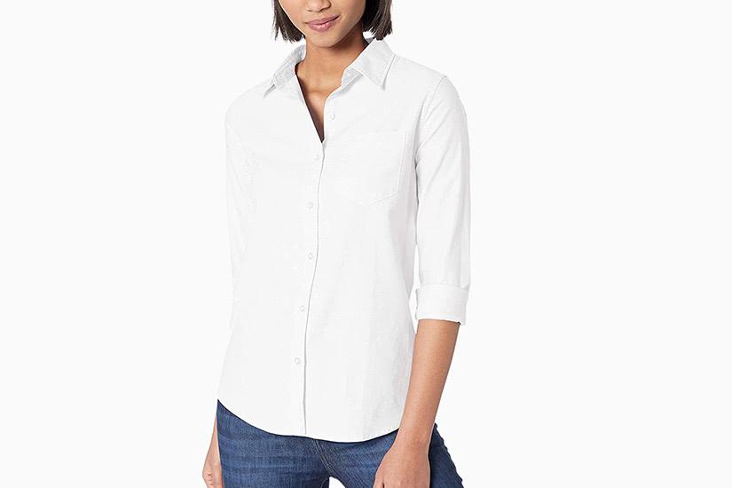 best white shirts women amazon essentials luxe digital