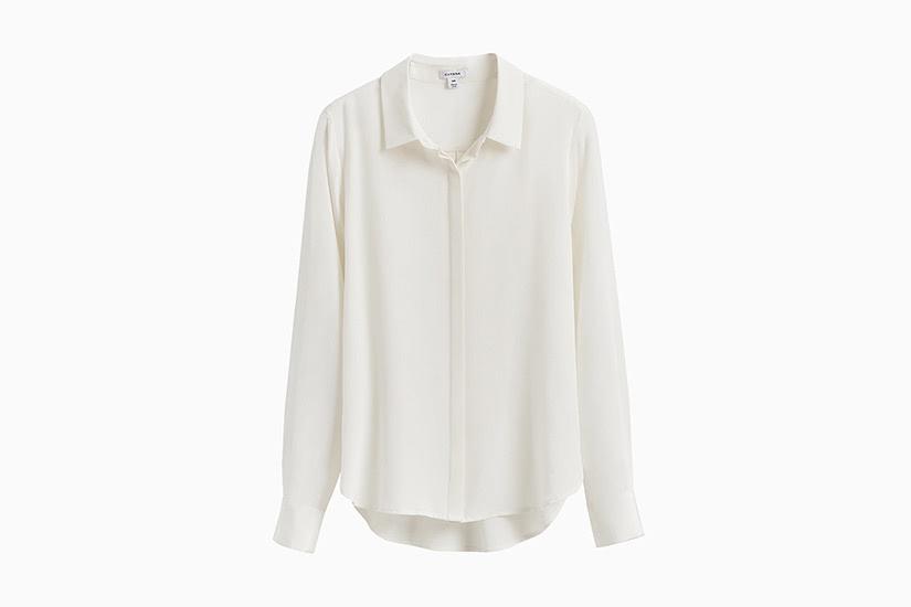 best white shirts women cuyana silk button down luxe digital