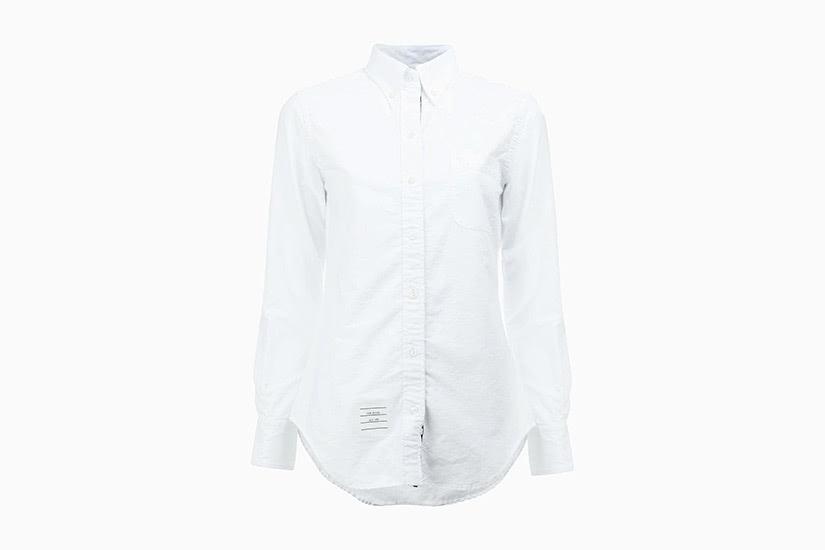 best white shirts women thom browne luxe digital