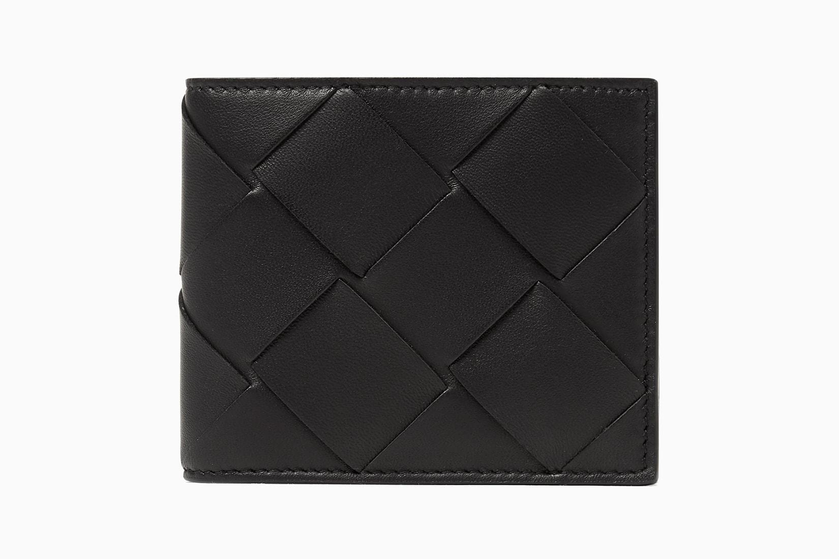 best minimalist wallet men leather Bottega Veneta Intrecciato - Luxe Digital