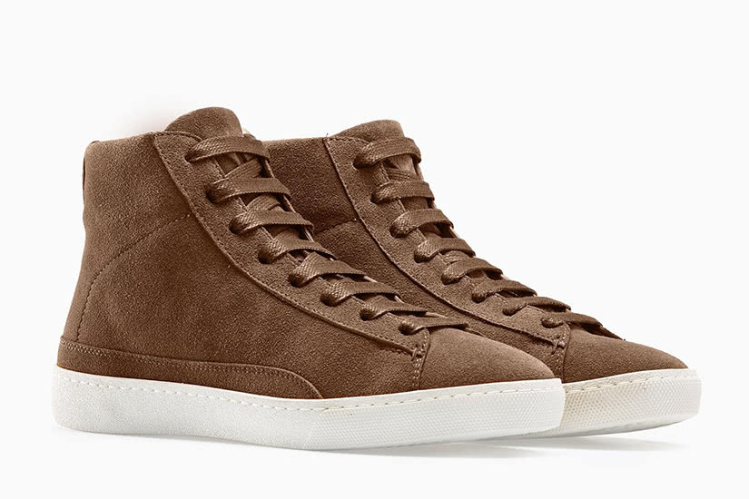 how to clean suede shoes koio verse brown sneakers - Luxe Digital