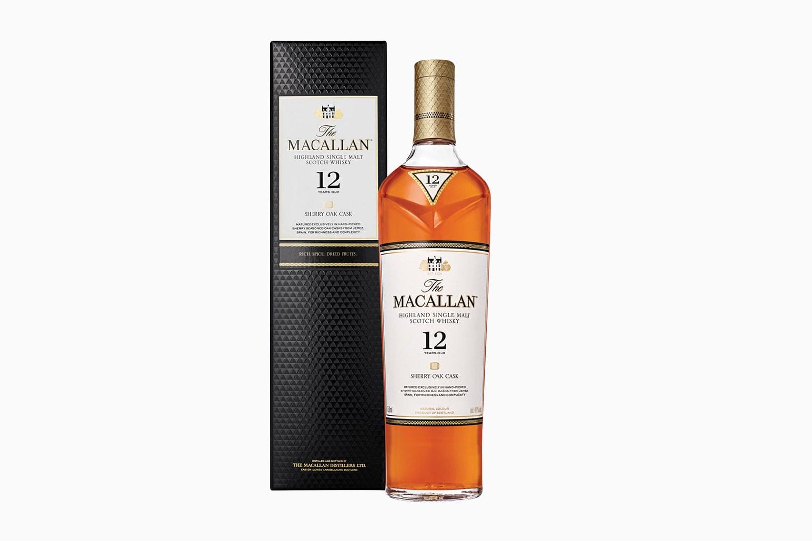 whisky escocés macallan 12 años botella precio tamaño - Luxe Digital