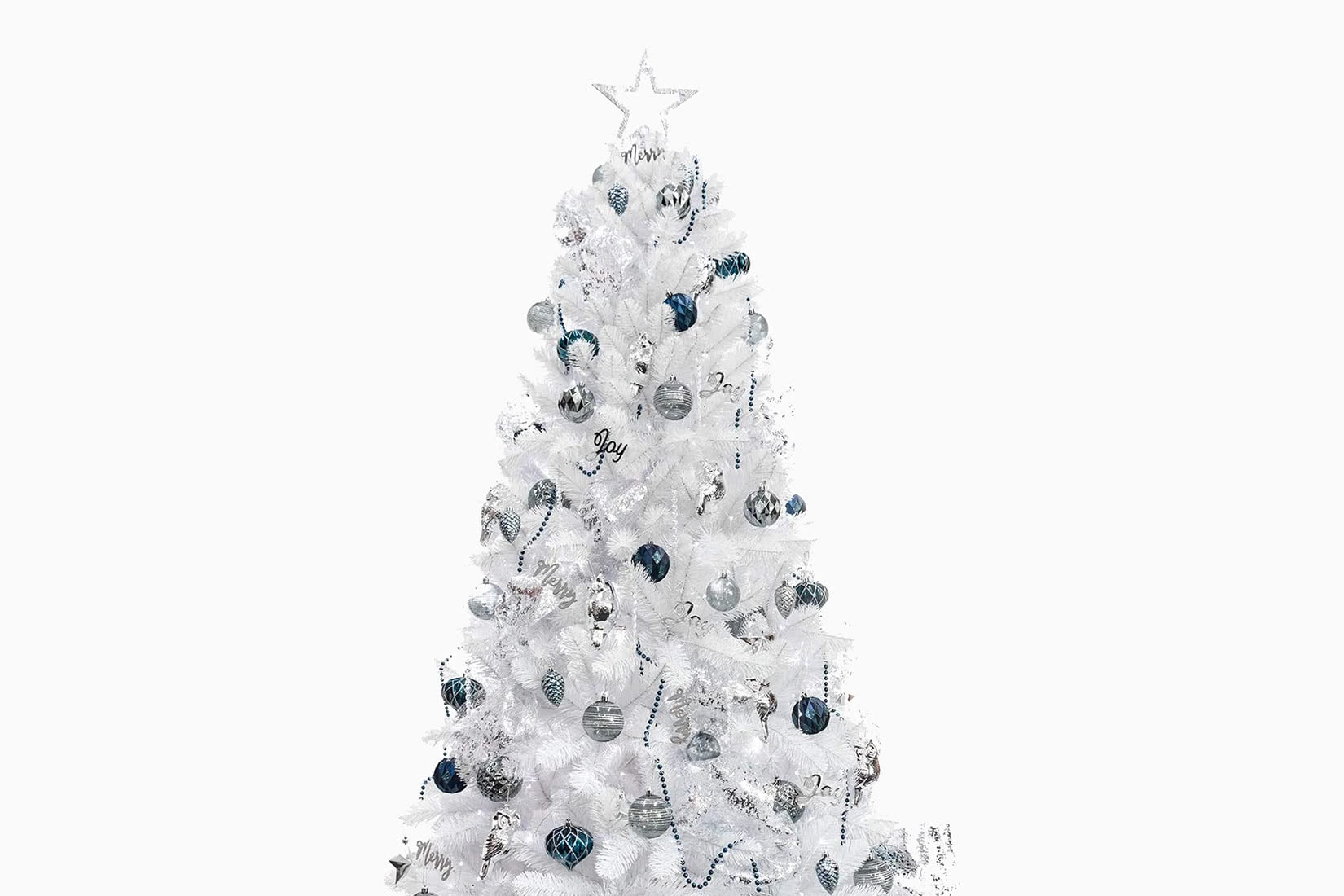 best artificial Christmas tree white ki store review - Luxe Digital