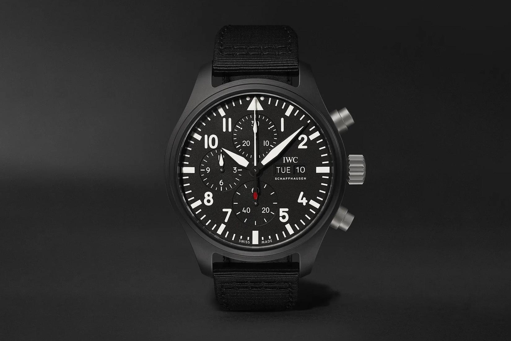 iwc luxury watches pilot's top gun luxe digital