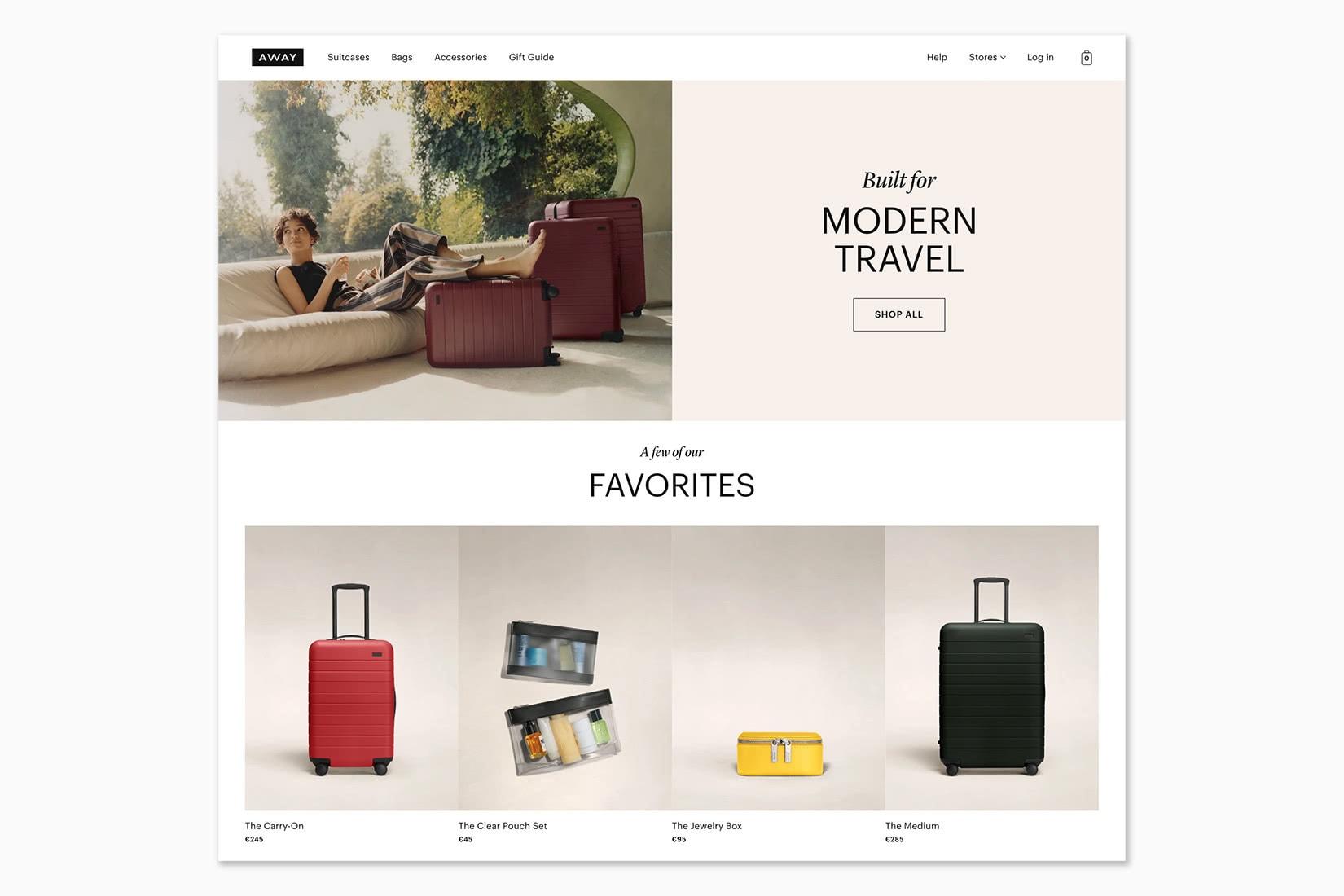 best online shopping sites women Away - Luxe Digital
