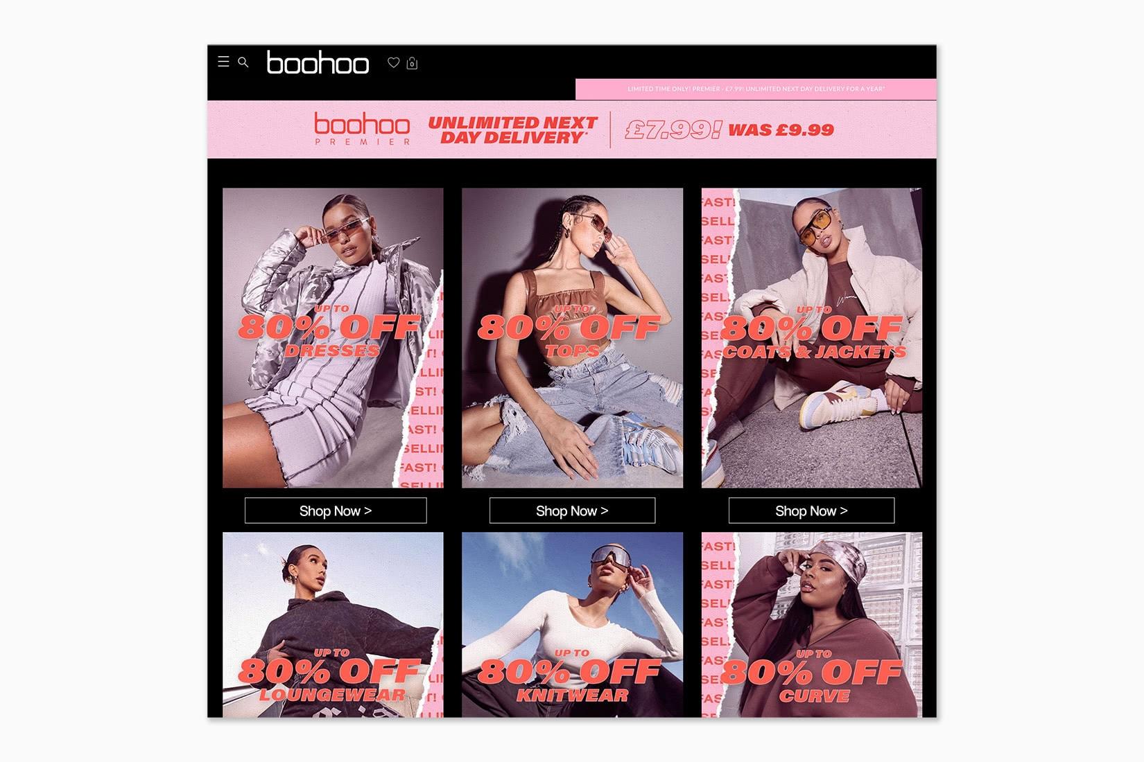 best online shopping sites women Boohoo - Luxe Digital