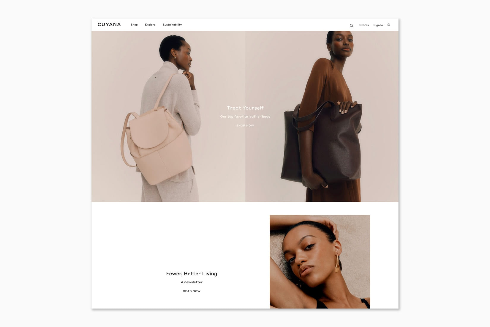 best online shopping sites women cuyana - Luxe Digital
