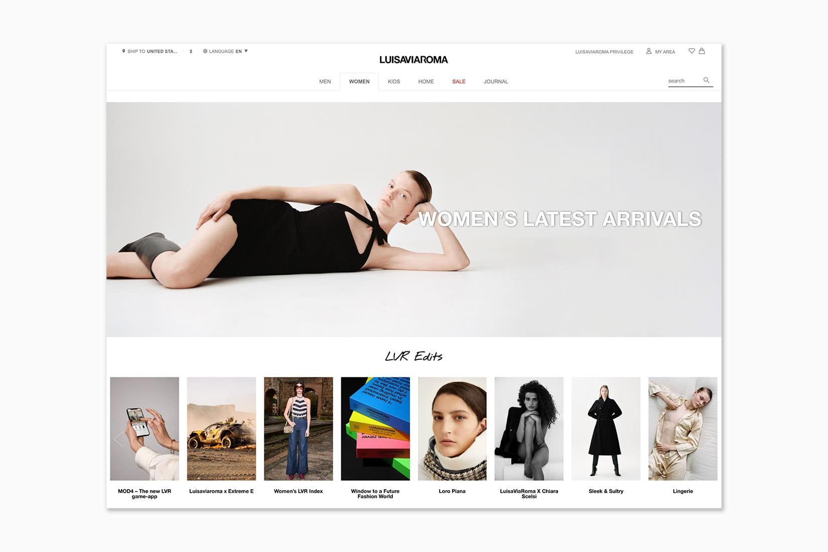 best online shopping sites women luisaviaroma - Luxe Digital