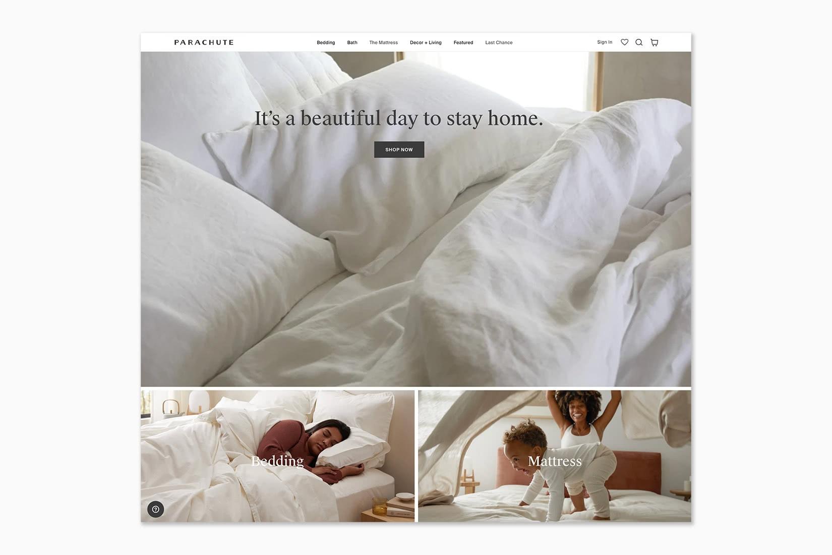 best online shopping sites women Parachute - Luxe Digital