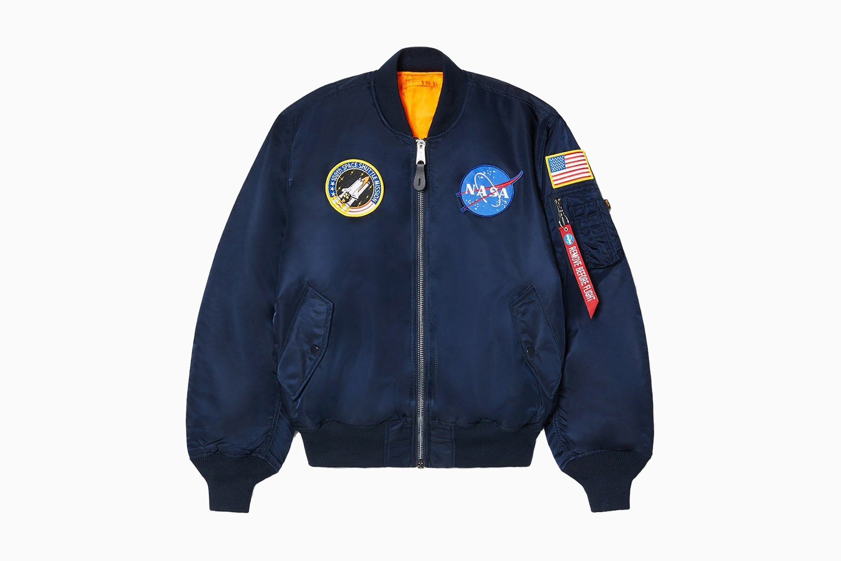best men bomber jacket blue Alpha Industries Nasa review - Luxe Digital