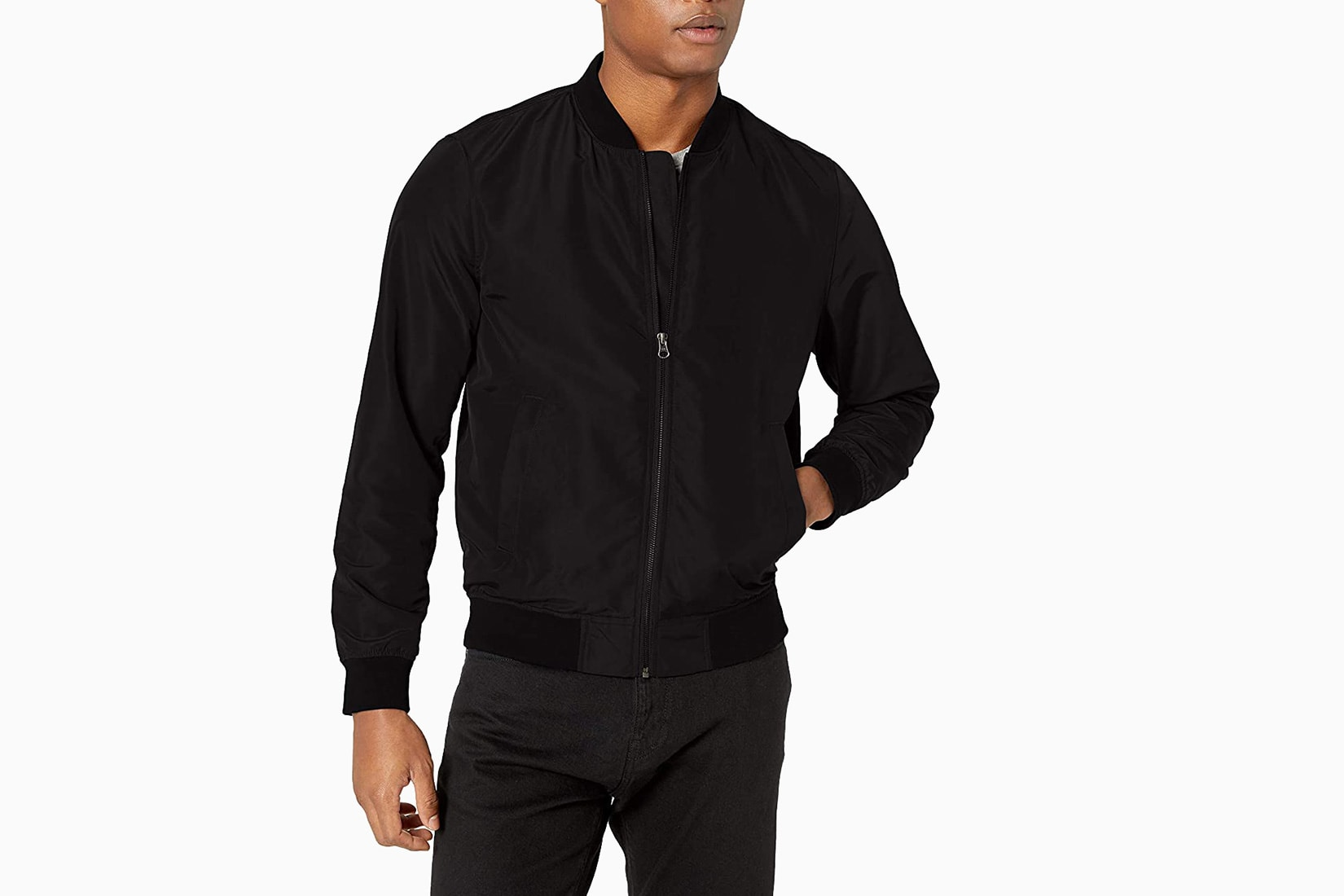 best men bomber jacket budget Amazon Essentials review - Luxe Digital