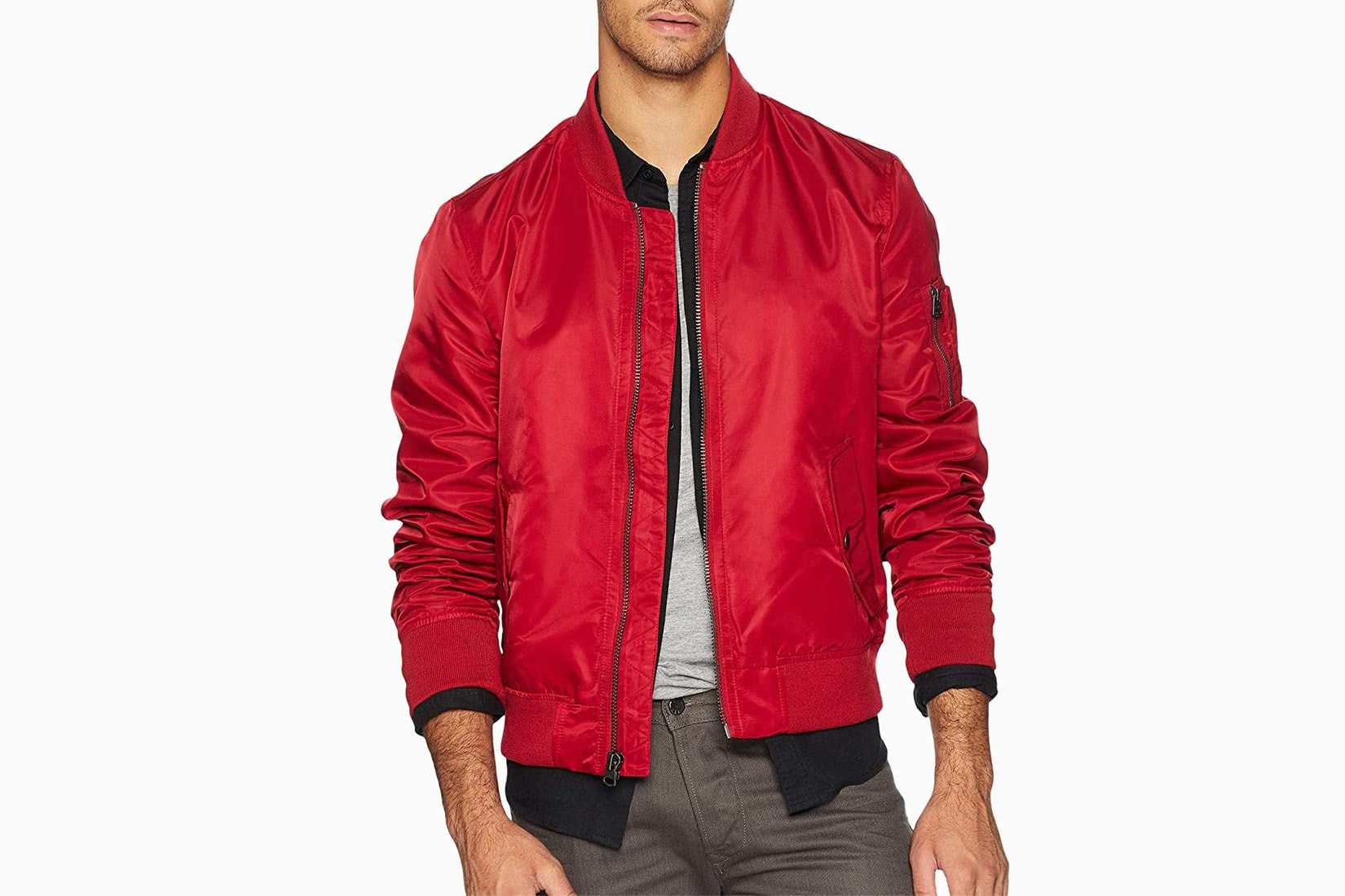 best men bomber jacket red Levis MA-1 review - Luxe Digital