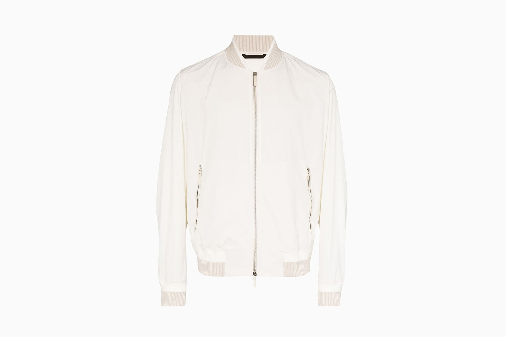 best men bomber jacket white Ermenegildo Zegna review - Luxe Digital
