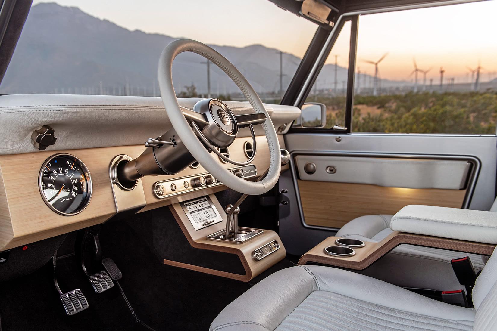 zero labs electric ford bronco interior - Luxe Digital
