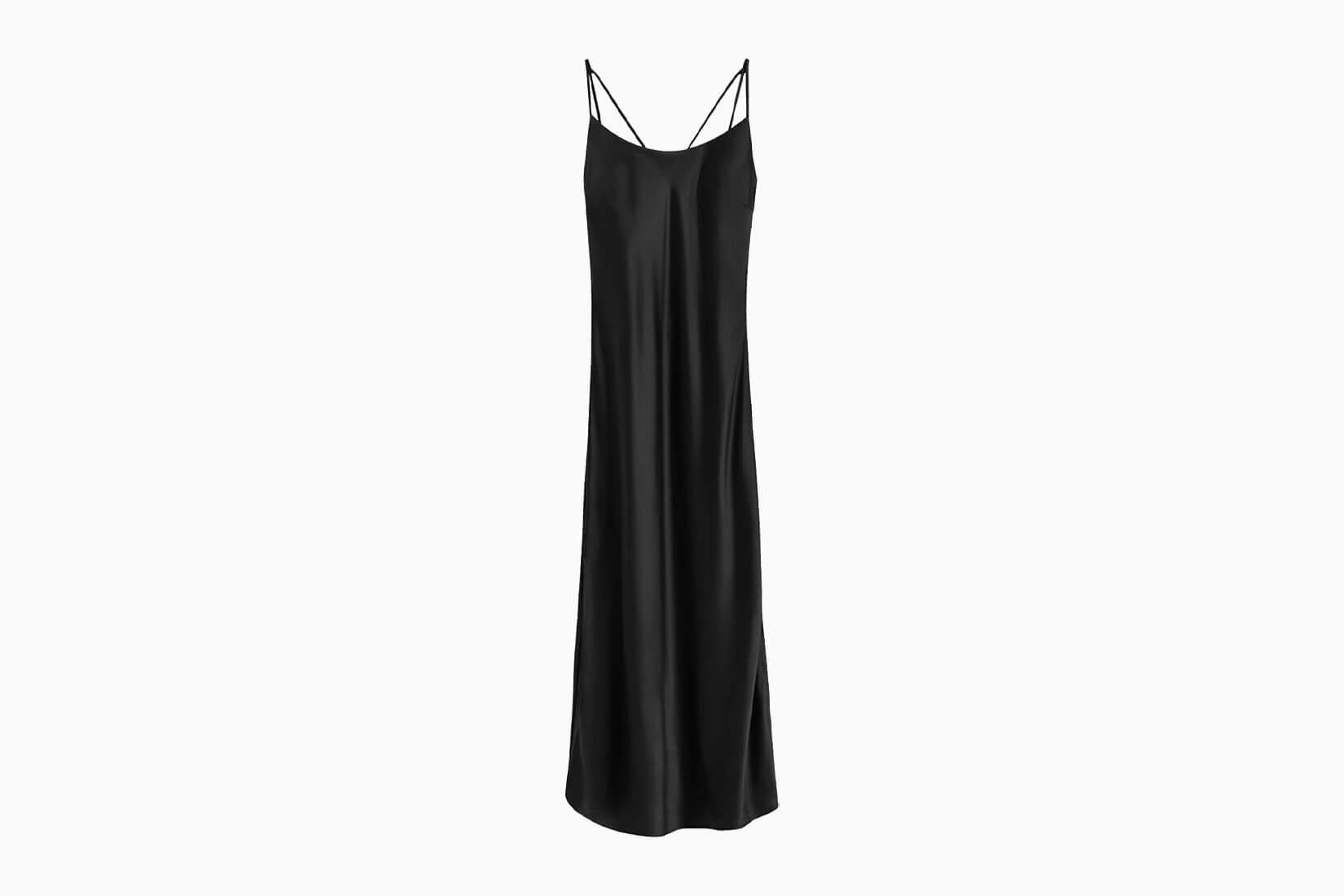 best little black dresses cuyana charmeuse - Luxe Digital
