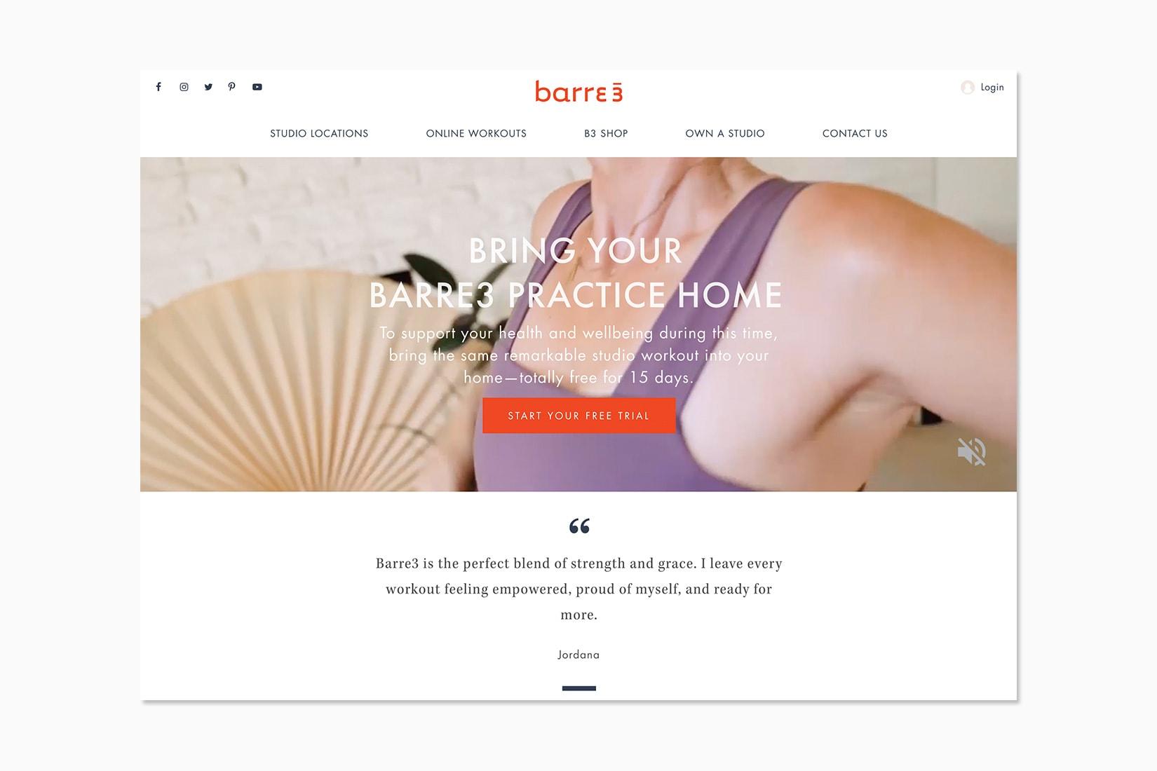best online workout program barre3 review - Luxe Digital