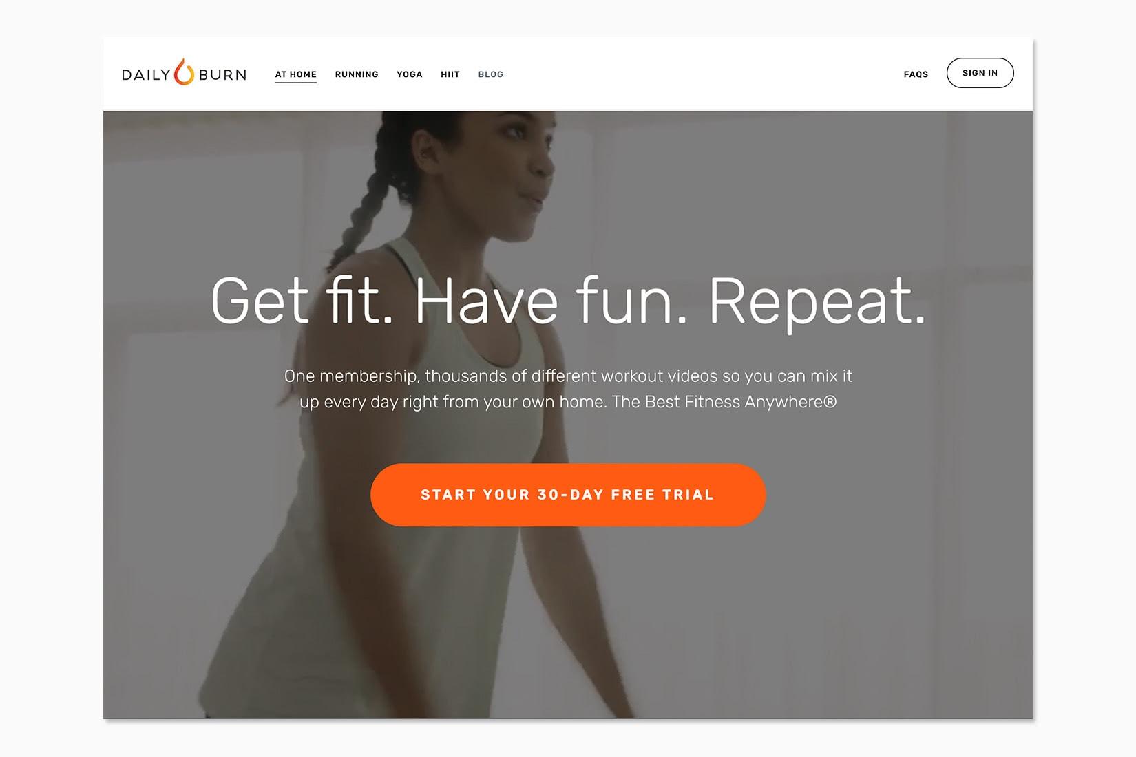 best online workout program dailyburn review - Luxe Digital