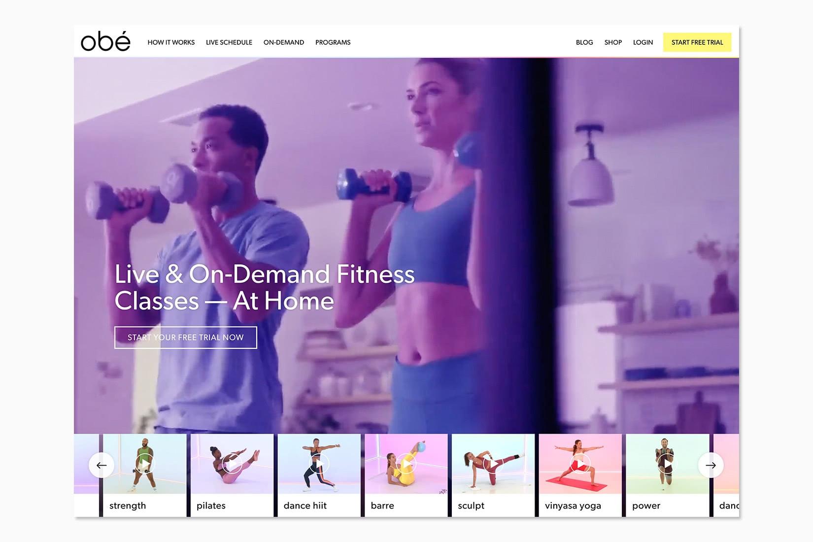 best online workout program obe review - Luxe Digital