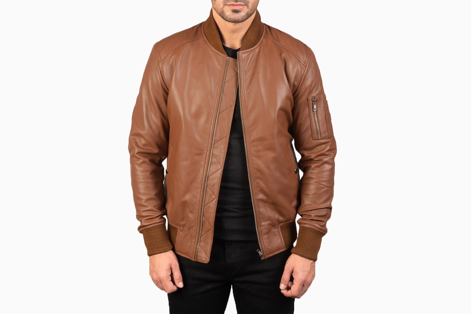 the jacket maker bomber ma-1 leather review - Luxe Digital
