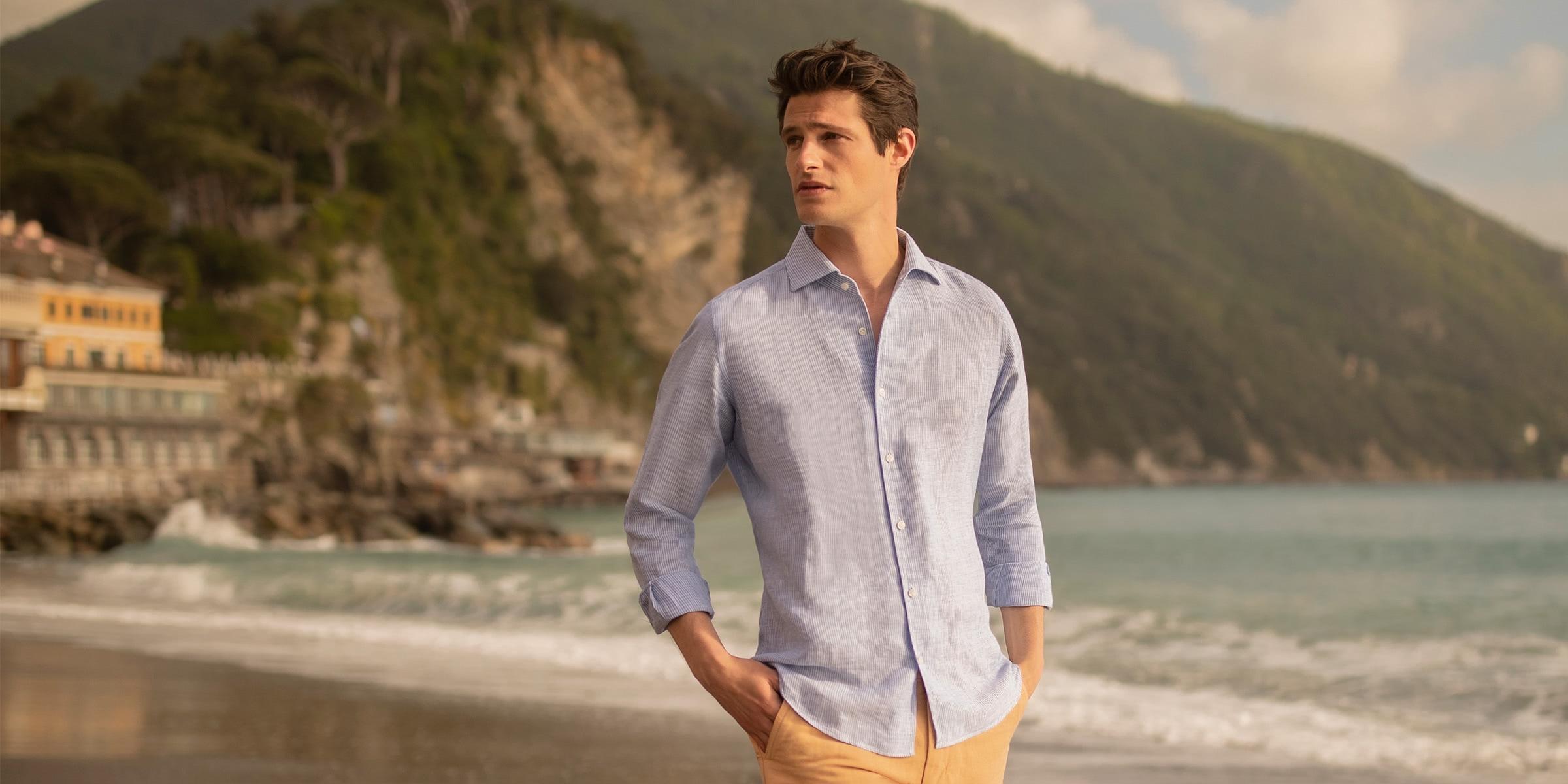 luca faloni menswear linen collection luxe digital