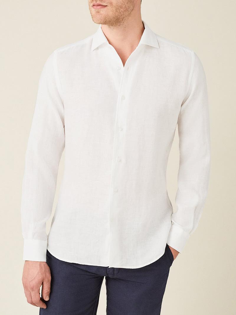 luca faloni menswear portofino linen shirt luxe digital