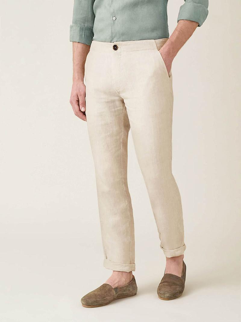 luca faloni menswear linen trousers luxe digital