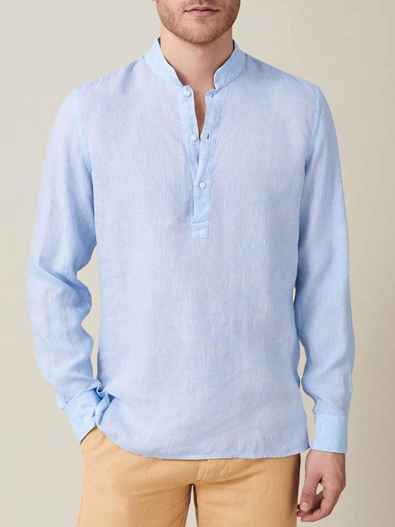 luca faloni menswear forte linen shirt luxe digital