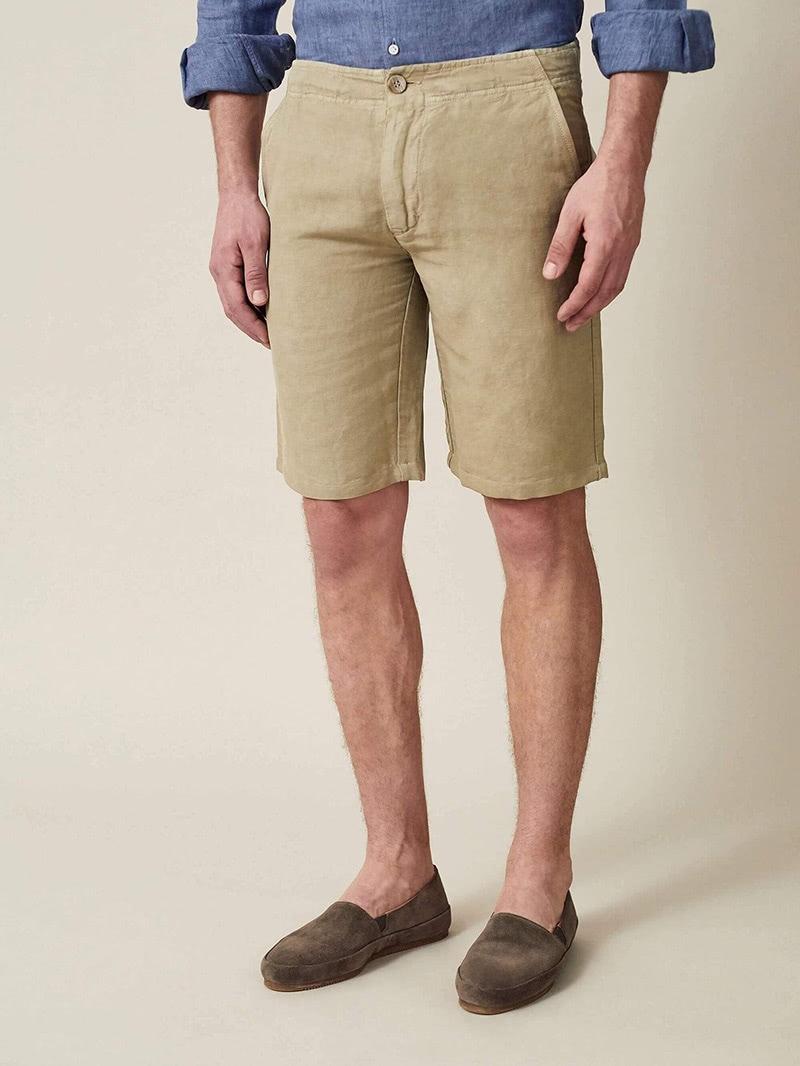 luca faloni menswear panarea linen cotton shorts luxe digital
