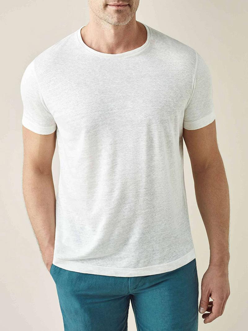 luca faloni menswear linen jersey t-shirt luxe digital