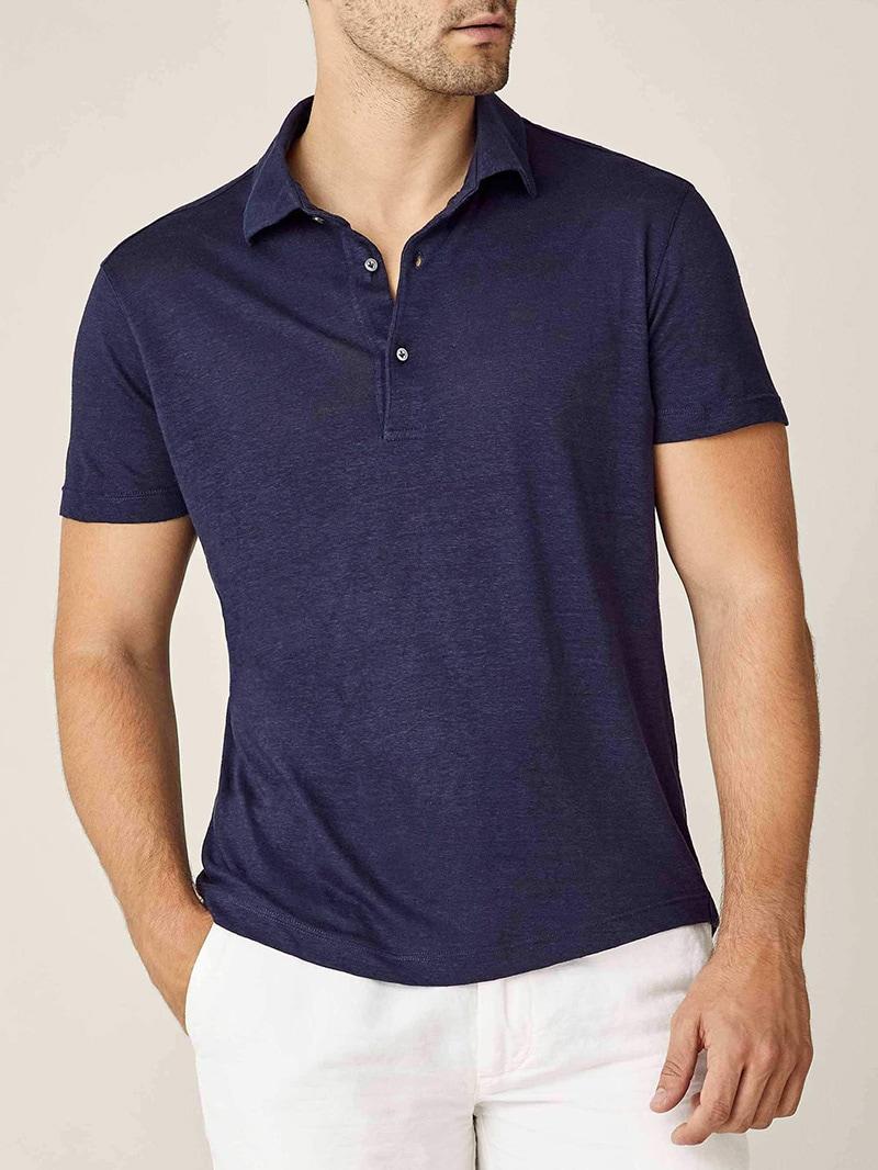 luca faloni menswear elba linen jersey polo luxe digital