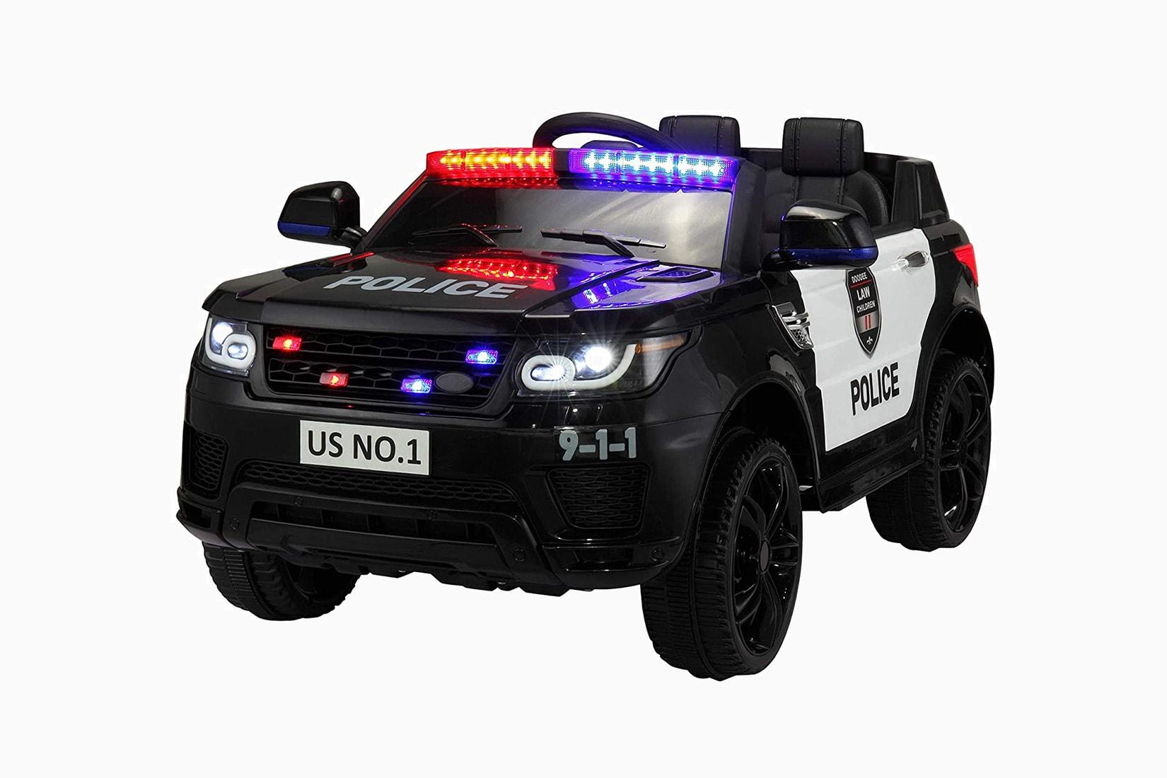best electric cars kids tobbi police ride-on - Luxe Digital
