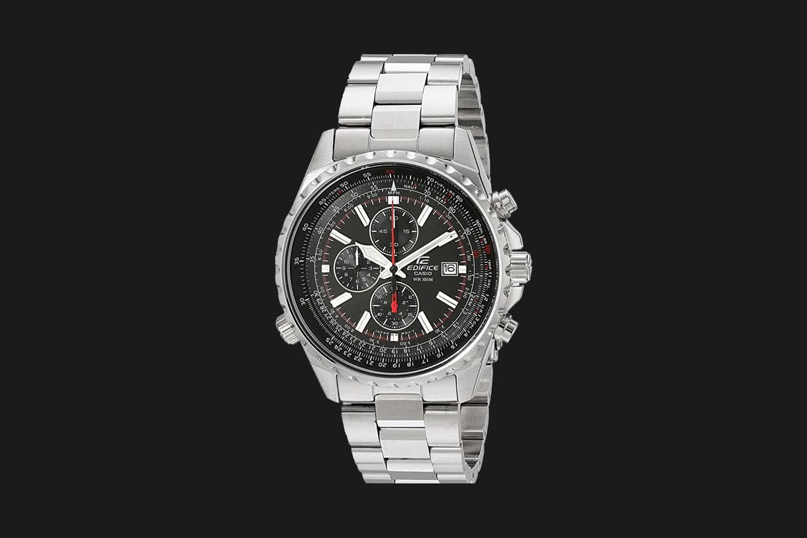 best men watch casio EF52RD-1AV review - Luxe Digital