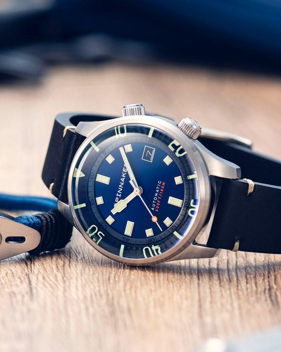 Spinnaker watches review Bradner blue - Luxe Digital