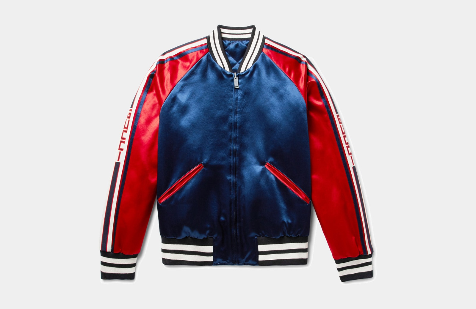 best red bomber jacket men Gucci luxury style - Luxe Digital