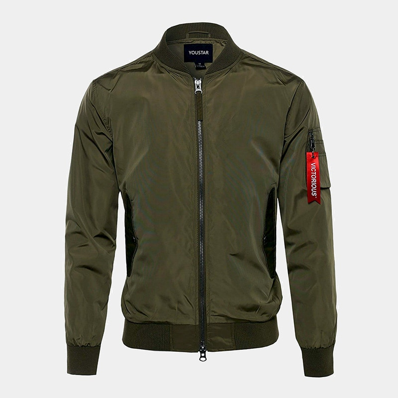 best green bomber jacket men Youstar luxury style - Luxe Digital