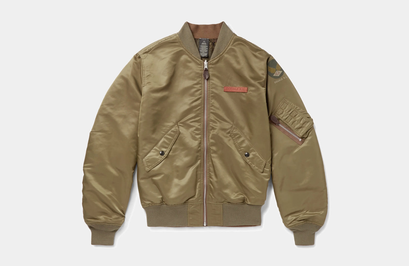 best olive bomber jacket men Ralph Lauren luxury style - Luxe Digital